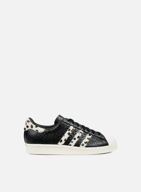 sneakers adidas originals superstar 80s animal core black chalk white gold metal
