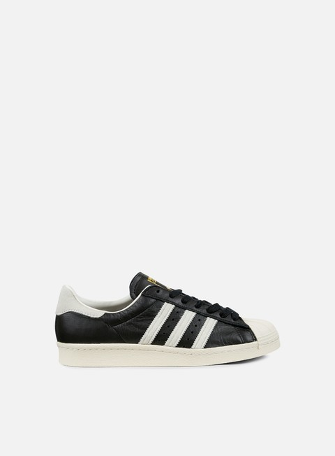 sneakers adidas originals superstar 80s black white gold