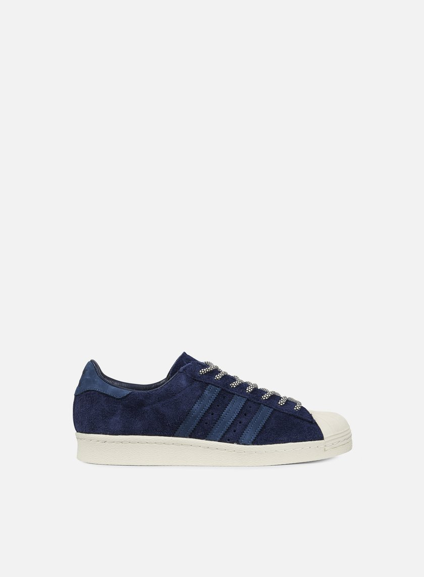 Adidas Originals - Superstar 80s, Collegiate Navy/Mineral Blue/Halo Blue