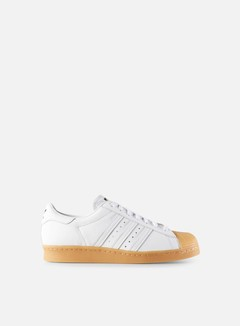 Adidas Originals - Superstar 80s DLX, White/White/Gold Metal