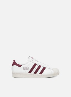 Adidas Originals - Superstar 80s, Ftwr White/Maroon/Crystal White