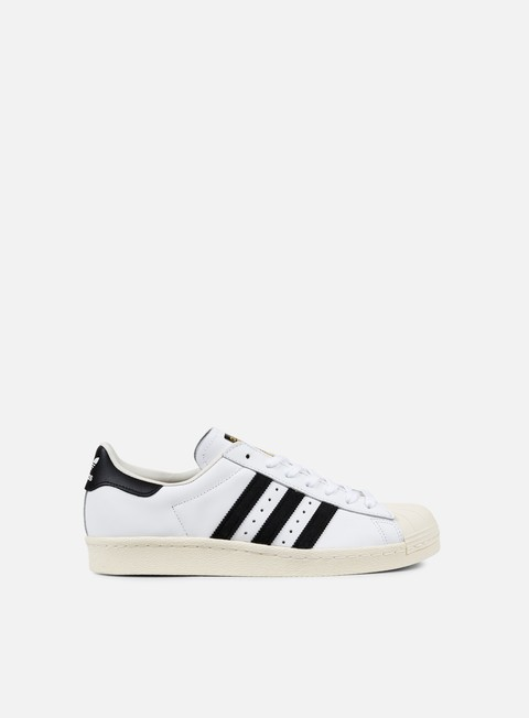 sneakers adidas originals superstar 80s white black chalk
