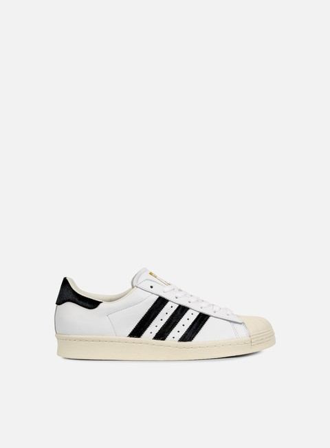 sneakers adidas originals superstar 80s white core black gold