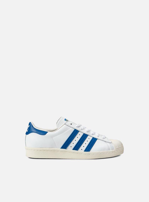 Adidas Originals - Superstar 80s, White/Dark Royal/Chalk