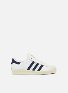 Adidas Originals - Superstar 80s, White/Trace Blue/Grey Two