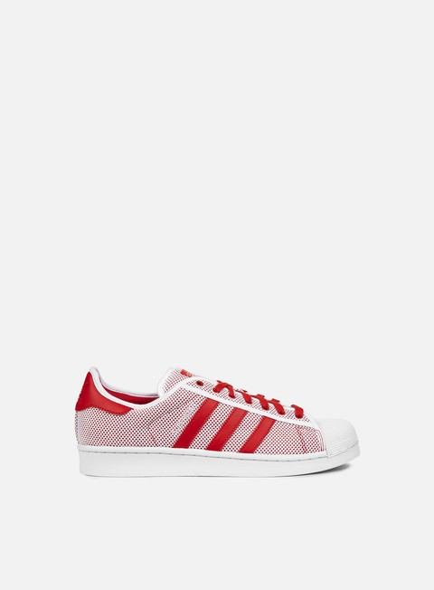 sneakers adidas originals superstar adicolor white collegiate red white