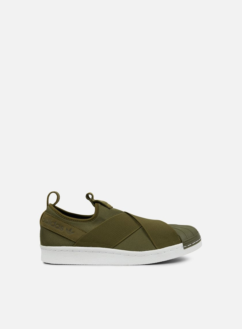 Adidas Originals - Superstar Slip On, Trace Olive/Trace Olive/White