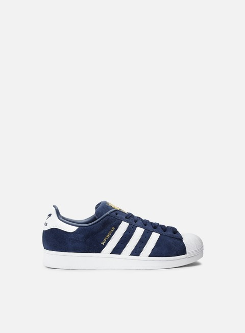 sneakers adidas originals superstar suede collegiate navy running white collegiate navy