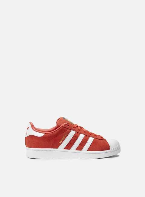 sneakers adidas originals superstar suede red running white red