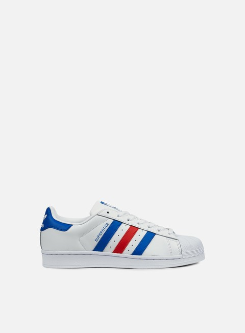 sneakers adidas originals superstar white blue red