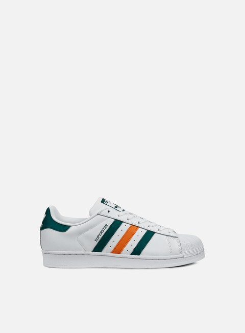 sneakers adidas originals superstar white collegiate green tactile orange