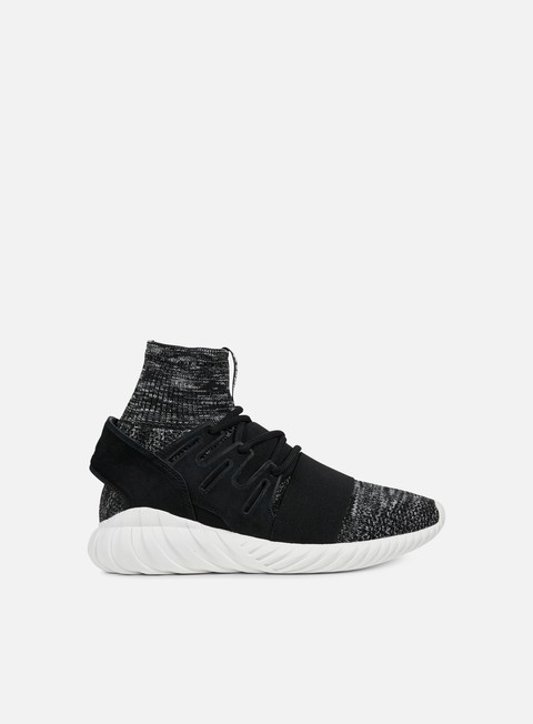 sneakers adidas originals tubular doom primeknit core black granite vintage white
