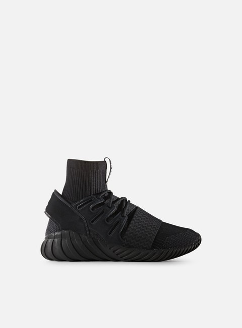 sneakers adidas originals tubular doom primeknit core black neutral grey white