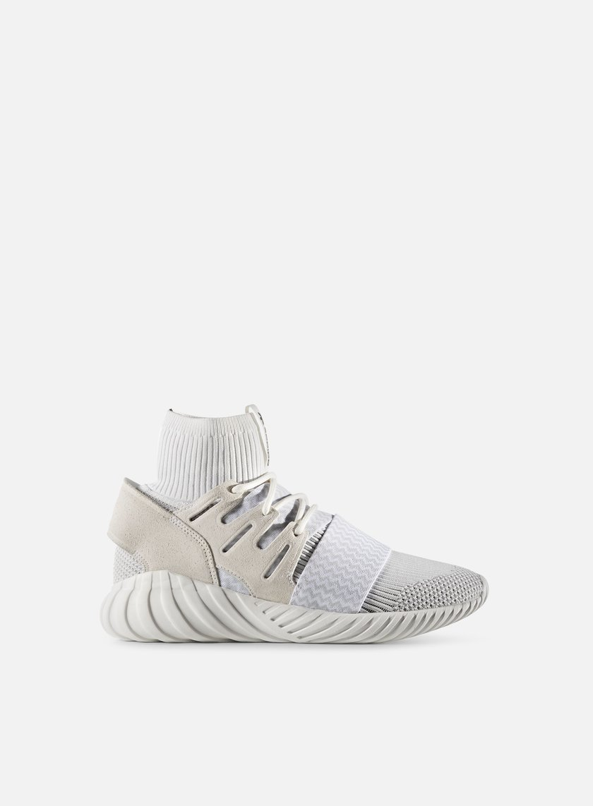 Adidas Originals - Tubular Doom Primeknit, Vintage White/Light Solid Grey/Core Black