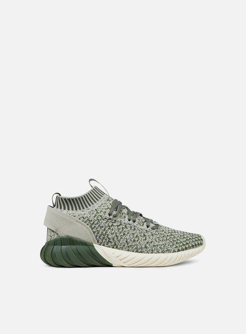 sneakers adidas originals tubular doom sock primeknit base green sesame chalk white