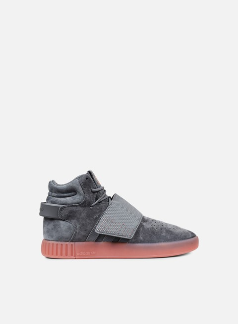 sneakers adidas originals tubular invader strap grey four grey four raw pink
