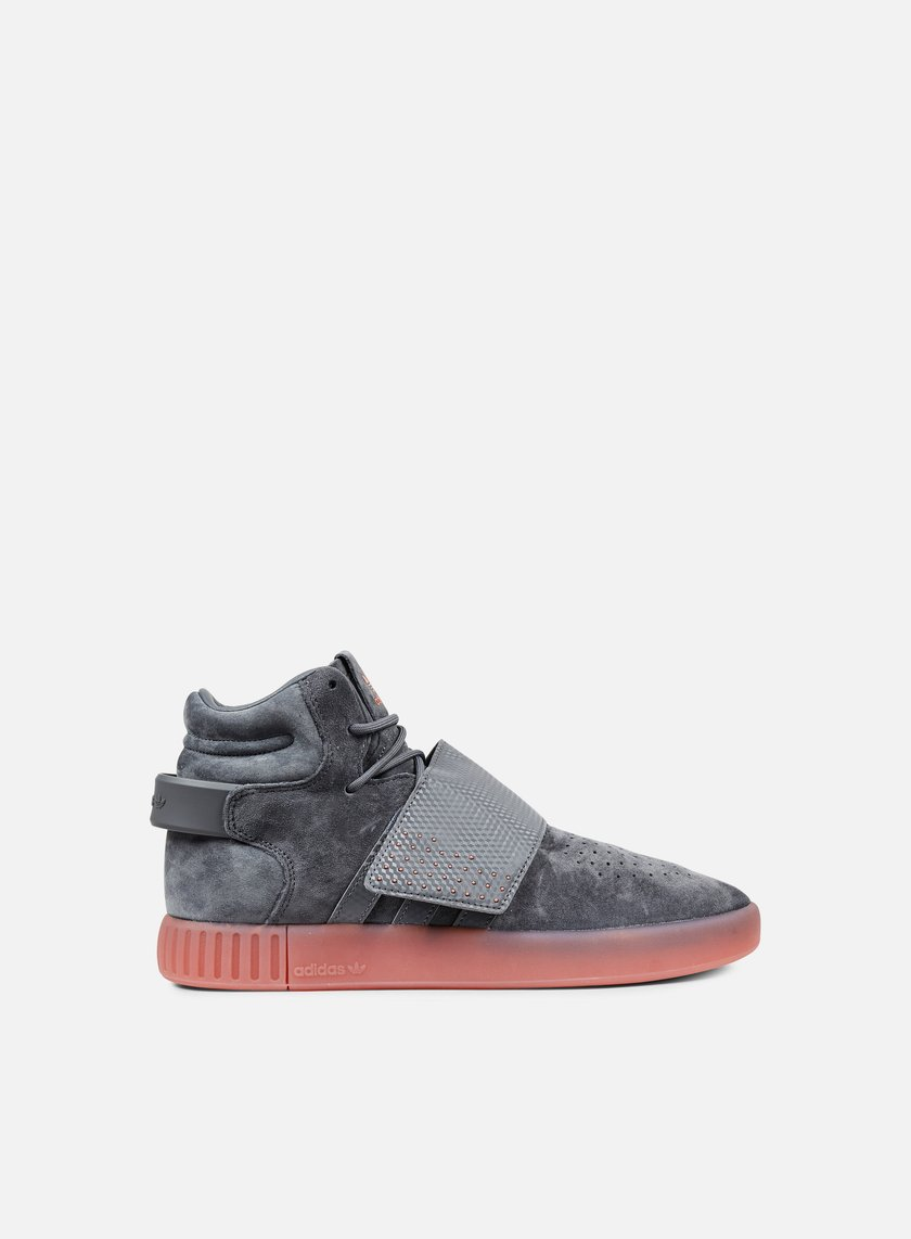 Adidas Originals - Tubular Invader Strap, Grey Four/Grey Four/Raw Pink