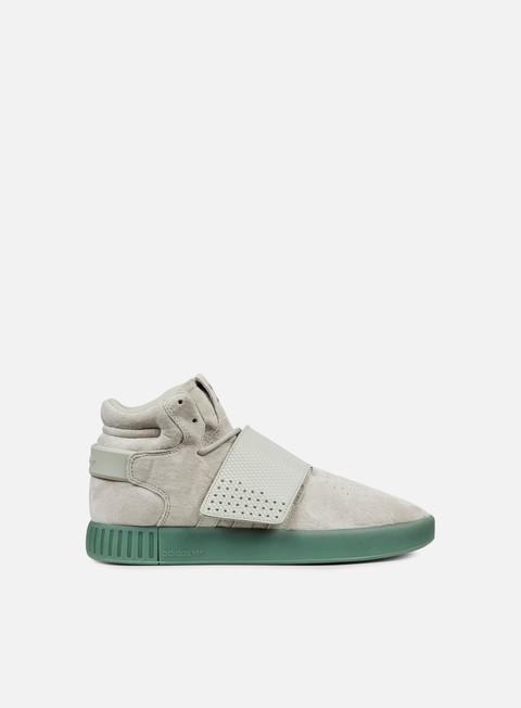 sneakers adidas originals tubular invader strap sesame sesame trace green