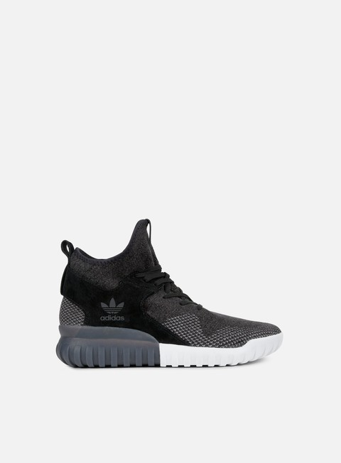 sneakers adidas originals tubular x primeknit core black dark grey charcoal solid grey