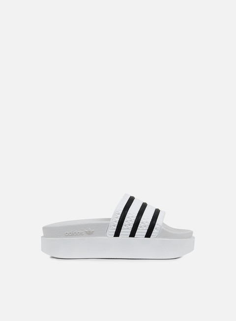 sneakers adidas originals wmns adilette bold white white core black