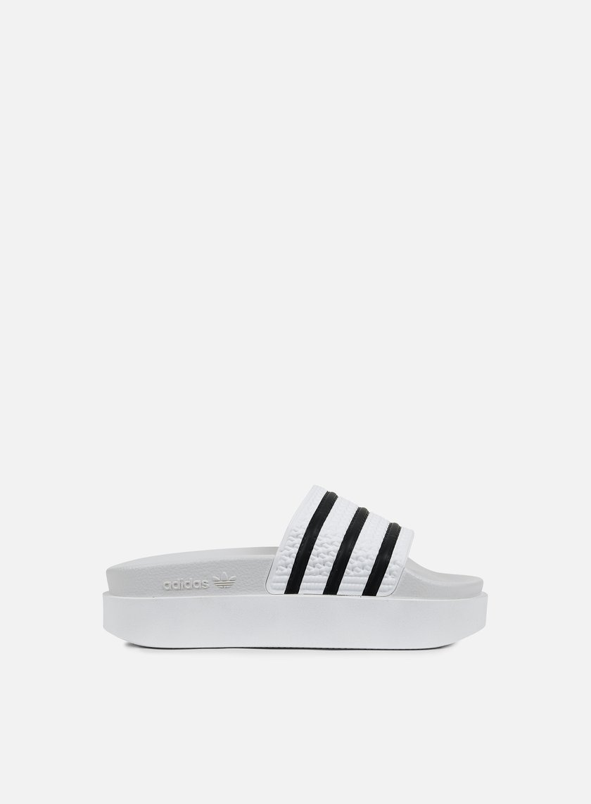 Adidas Originals - WMNS Adilette Bold, White/White/Core Black
