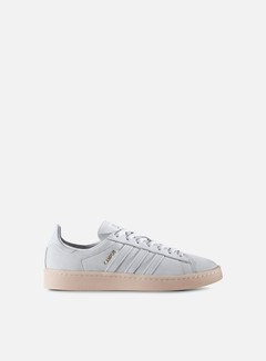 Adidas Originals - WMNS Campus, Crystal White/Crystal White/Ice Pink 1