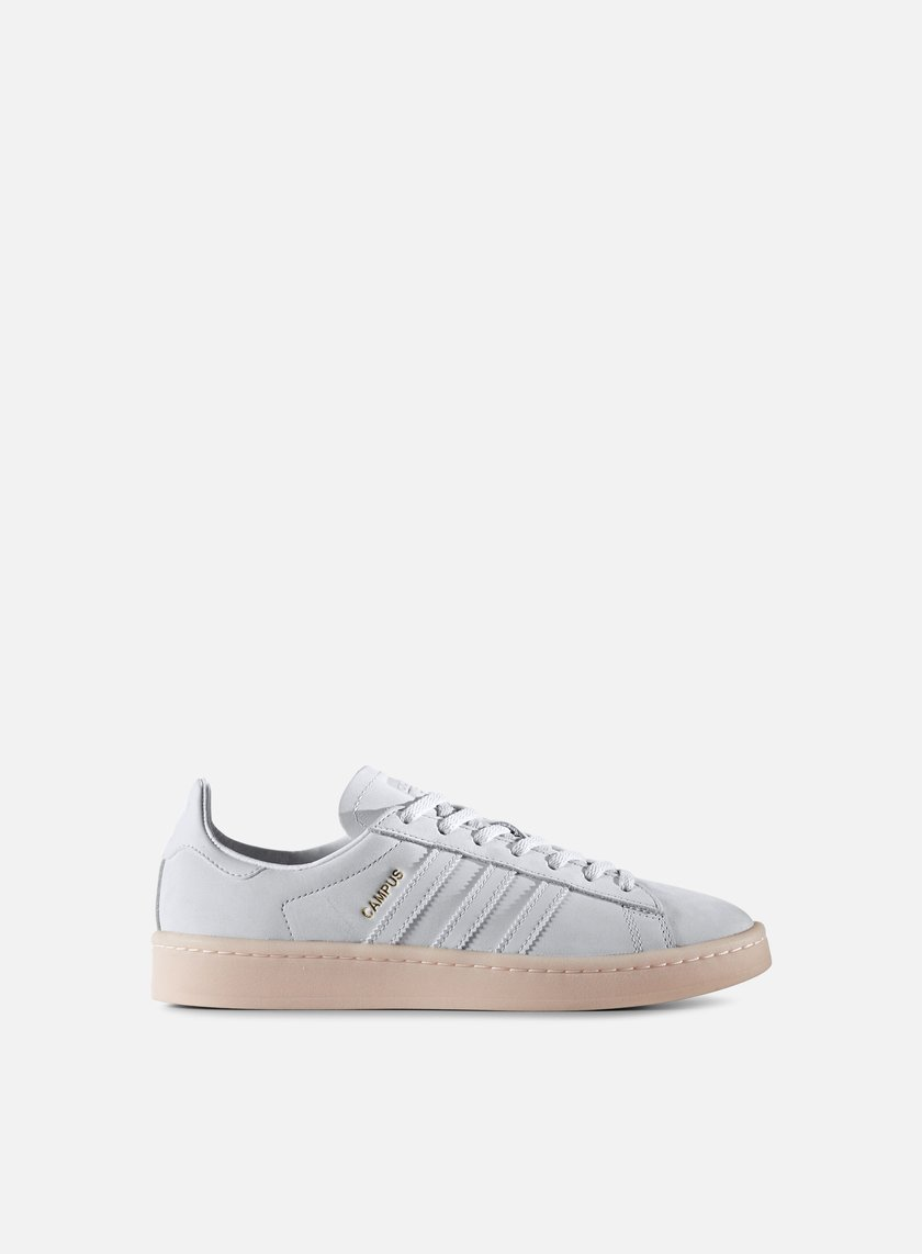 Adidas Originals - WMNS Campus, Crystal White/Crystal White/Ice Pink