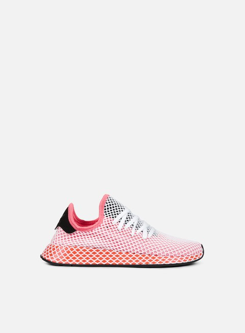 sneakers adidas originals wmns deerupt runner chalk pink chalk pink bold orange
