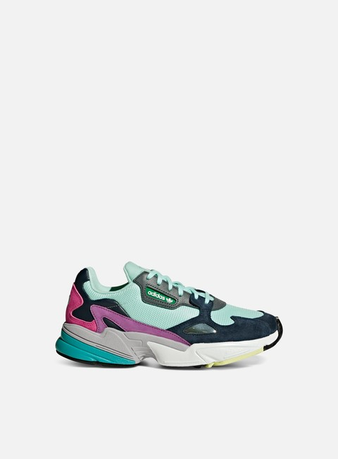 sneakers adidas originals wmns falcon w clear mint clear mint collegiate navy