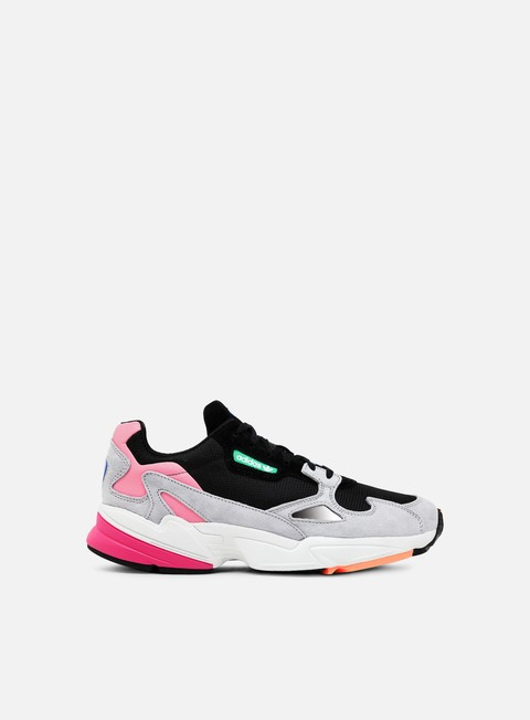 sneakers adidas originals wmns falcon w core black core black light granite