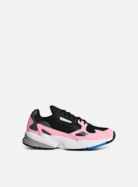 sneakers adidas originals wmns falcon w core black core black light pink