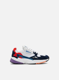 Adidas Originals - WMNS Falcon W, Crystal White/Crystal White/Collegiate Navy