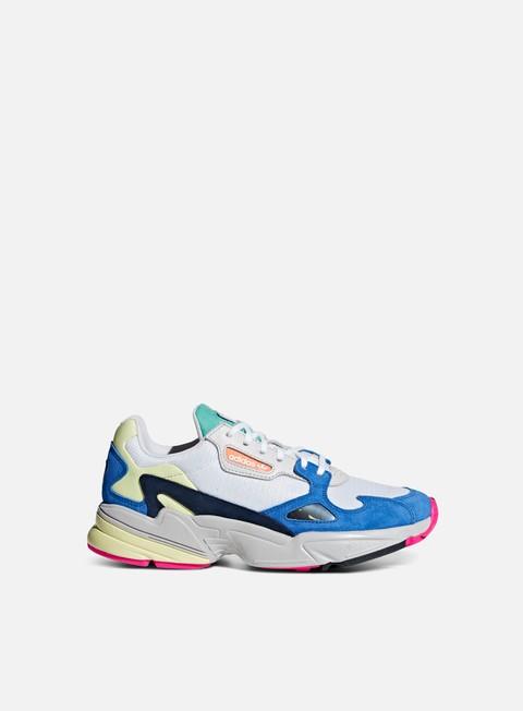 sneakers adidas originals wmns falcon w ftwr white ftwr white blue