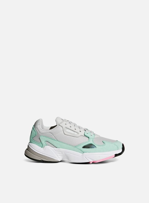 sneakers adidas originals wmns falcon w grey one grey one easy green