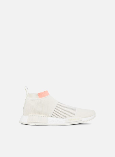 sneakers adidas originals wmns nmd cs1 primeknit cloud white cloud white clear orange