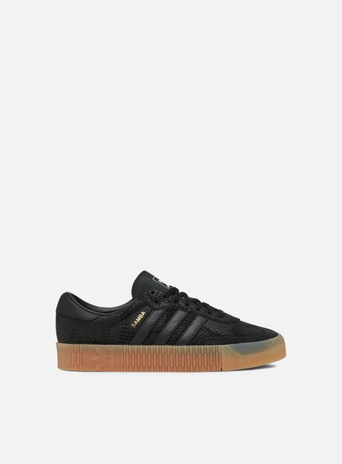 sneakers adidas originals wmns sambarose core black core black gum3
