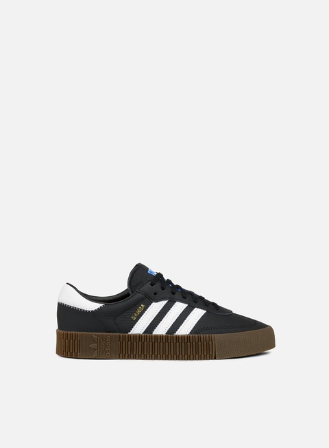sneakers adidas originals wmns sambarose core black white gum