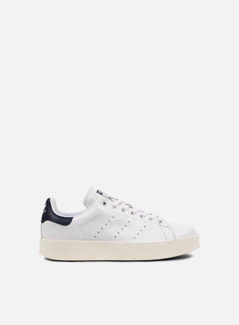 sneakers adidas originals wmns stan smith bold white core black collegiate navy