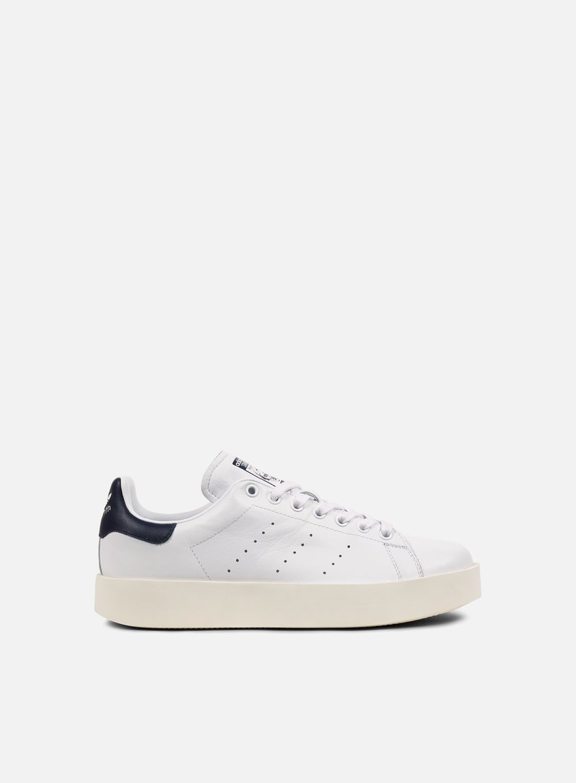 Adidas Originals - WMNS Stan Smith Bold, White/Core Black/Collegiate Navy