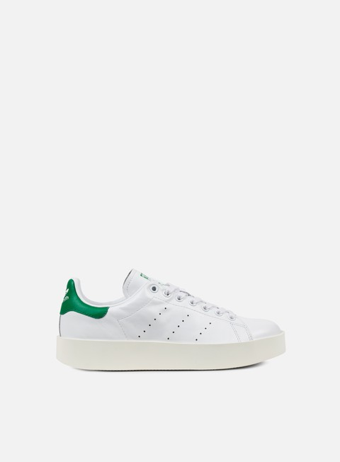 sneakers adidas originals wmns stan smith bold white white green