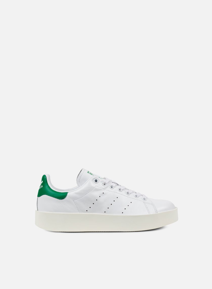 Adidas Originals - WMNS Stan Smith Bold, White/White/Green