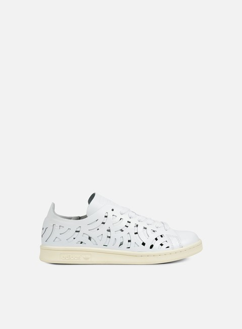 sneakers adidas originals wmns stan smith cutout white white cream white