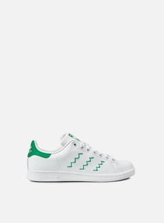 Adidas Originals - WMNS Stan Smith, Running White/Running White/Green