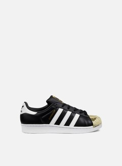 Adidas Originals - WMNS Superstar 80s Metal Toe, Core Black/White/Gold Metallic