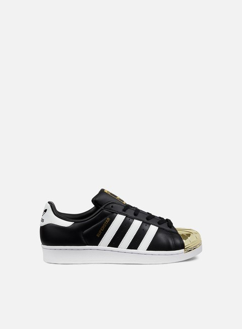 sneakers adidas originals wmns superstar 80s metal toe core black white gold metallic