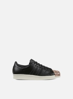 Adidas Originals - WMNS Superstar 80s Metal Toe TF, Black/Black/Metallic Copper 1
