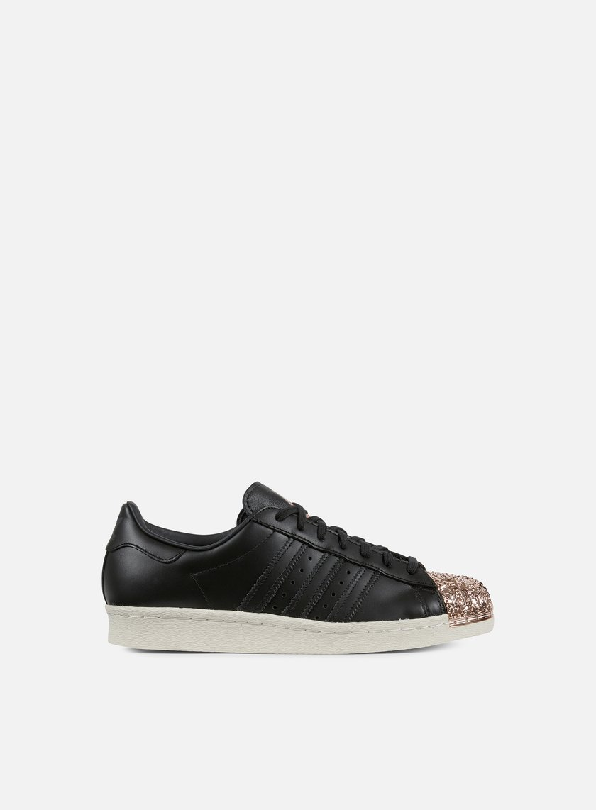 Adidas Originals - WMNS Superstar 80s Metal Toe TF, Black/Black/Metallic Copper