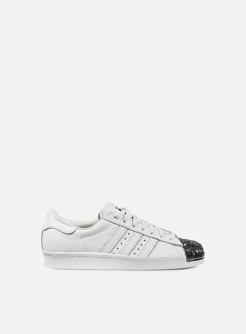 sneakers adidas originals wmns superstar 80s metal toe tf white white black