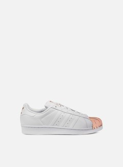 Adidas Originals - WMNS Superstar 80s Metal Toe, White/White/Copper Metallic