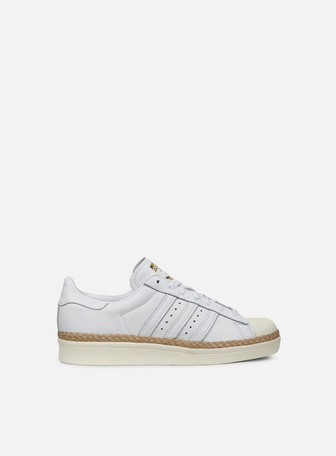 sneakers adidas originals wmns superstar 80s new bold white white off white